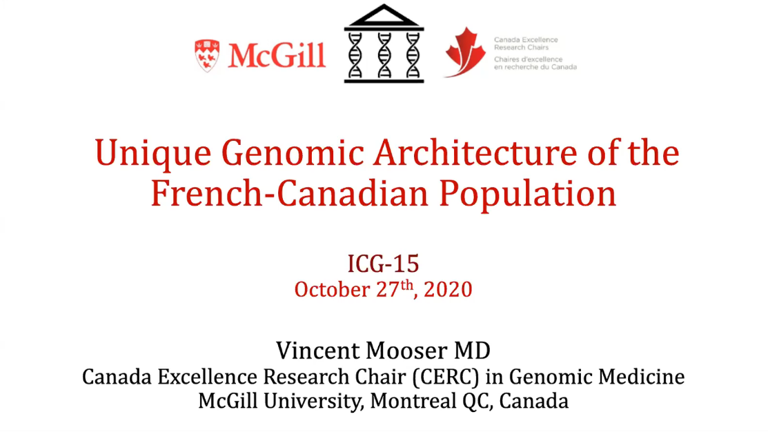 ICG-15 | Unique Genomic Architecture of Coding Variants in the French Canadian Population
