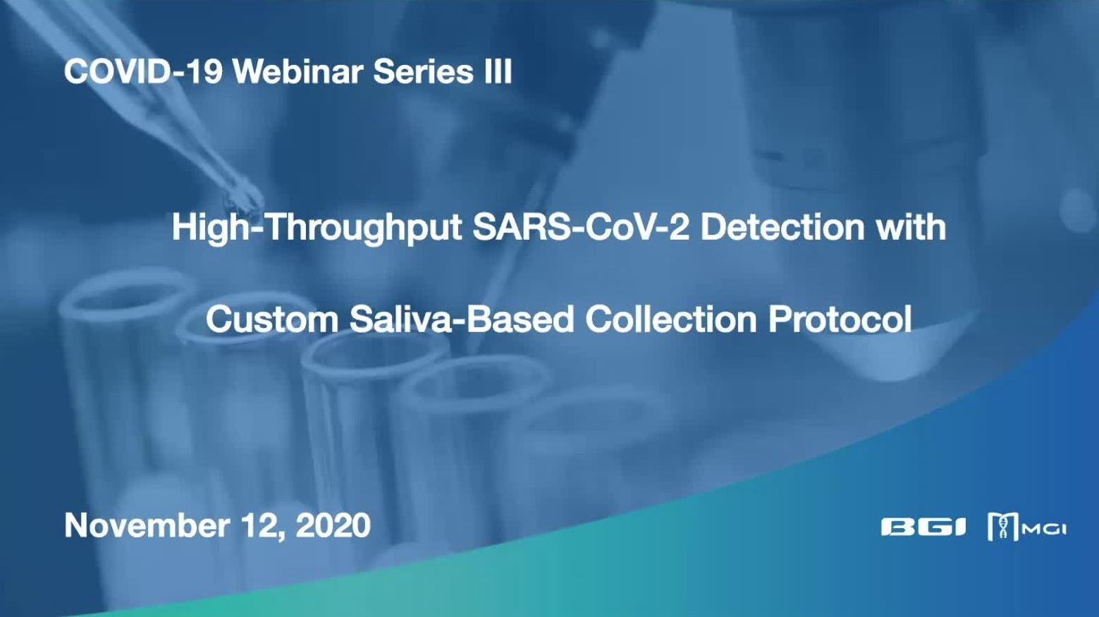 High-Throughput SARS-CoV-2 Detection with Custom Saliva-Based Collection Protocol Description