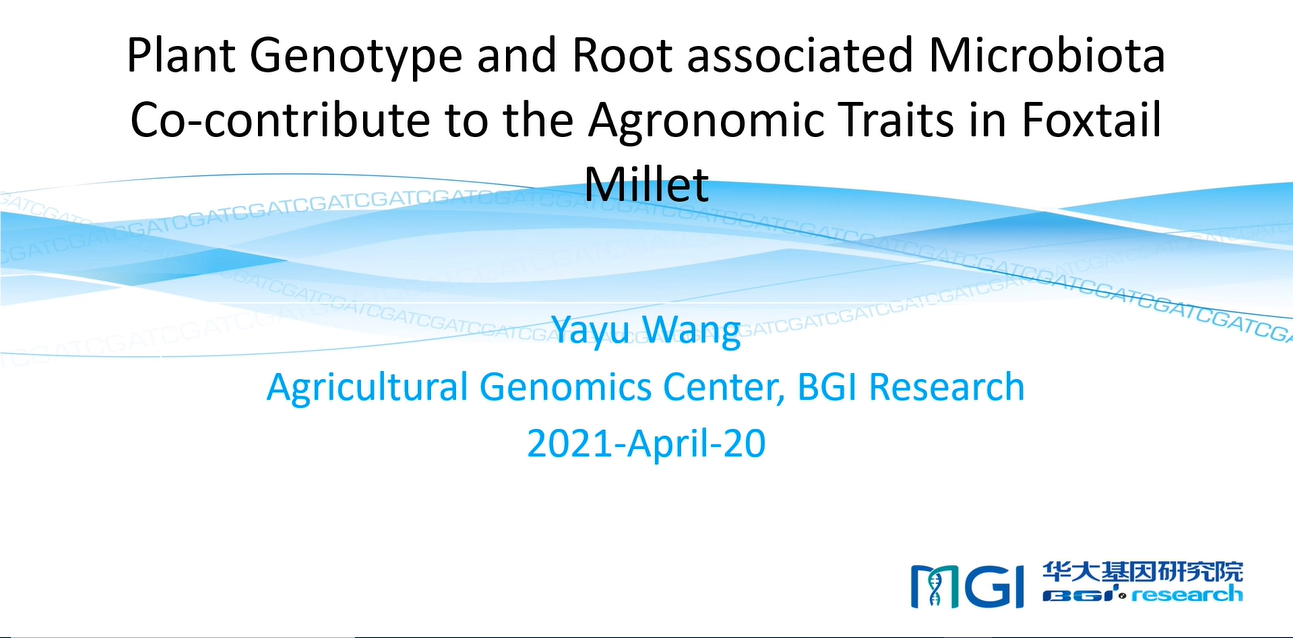 Plant Genotype and Root-Associated Microbiota Co-contribute to the Agronomic Traits in Foxtail Millet